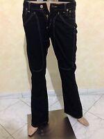 Pantalone JECKERSON TAGLIA SIZE 27 DONNA JEANS PANTS WOMAN COTONE NERO P 906