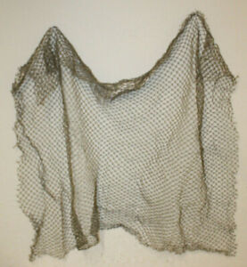 3'x5' Authentic Used Fishing Net Old Vintage Fish Netting Nautical Decor Party
