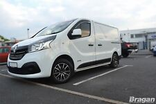 "Pour s'Adapter 2014+ Renault Trafic Swb INOX CHROME 2"" barres latérales étapes Tubes"