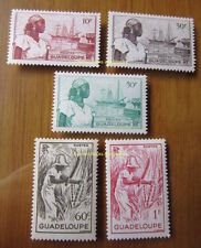 EBS Guadeloupe 1947 Scenes MNH**