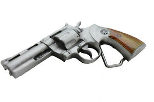 New Men Gangster Fashion Belt Buckle Silver Metal Gun Revolver Hood Street Wear