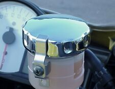 CHROME FRONT BRAKE FLUID CAP for Honda Kawasaki Suzuki Yamaha