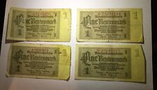 1937 Four Germany 1 Rentenmark Free Shipping In USA