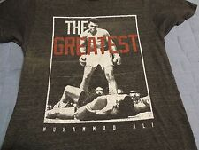 Official Muhammad Ali The Greatest T-SHIRT Adult Small Near Mint Gray Nice Cool