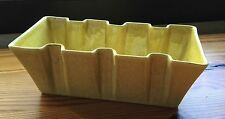 Vintage Red Wing Art Pottery Sanded Yellow Flare Square Ribs Planter Flower Vase