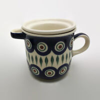 Wiza Poland Polish Pottery Tea Infuser With Spoon Missing Lid