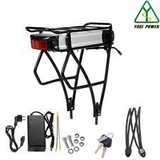 YOSE POWER (EBBK-036130-HT3) 36V 13Ah Batterie Lithium-ion pour Vélo Électrique avec Support Arrière - Noir/Argent