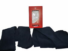 4 Boxed Pairs Italian Girls Navy Blue Super Soft Tights Age 9-10 NIB