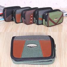 Multi-funcional de la cremallera doble bolsillo de la lona de teléfono