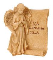 11x13cm neu 2 Varianten Grab Grabstein Grabschmuck ENGEL MIT STEIN UND SCHRIFT