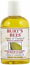 Burt s Bees Lemon and Vitamin E Body and Bath Oil, 115ml