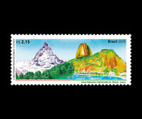 Switzerland Brazil 2019 Matterhorn and Pão de Açúcar - Microtype characters