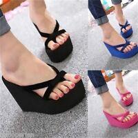 Summer Ladies Open Toe Peep Toe Platform High Heel Sandals Chunky Womens Shoes