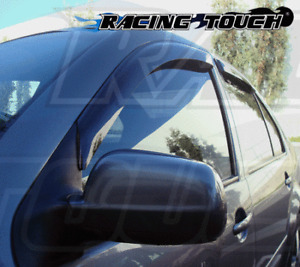 JDM Window Visor Deflector Out-Channel Light Tinted 4pcs For Infiniti QX60 13-16
