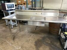 72x30 Left Side Dish Washer Table Dirty Pre Wash Nsf Solid Stainless Steel 6575