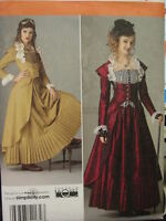 Victorian old west steampunk women's dress costume sewing patter size 6-20