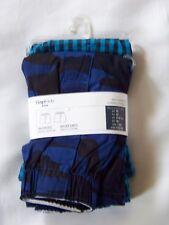 GapKids Boy's 2 Pairs Boxers Sizes S, M Blue/Check 100% Cotton