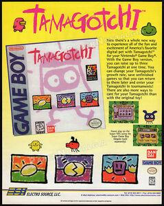 TAMAGOTCHI__Original 1997 Trade print AD / ADVERT_Nintendo Game Boy promo_Bandai