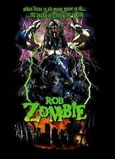 ROB ZOMBIE cd lgo ROOM IN HELL Official SHIRT MED New dread will walk the earth