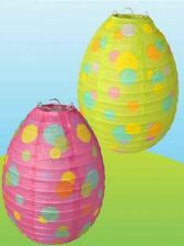 Green & Pink Paper Lantern Eggs Shaped Party Easter Decoration Spots Hanging Fun