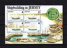 JERSEY   timbre  bloc bateaux  voilieres   1992   num:   6    **