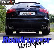 Milltek SSXAU213 Audi RS6 C6 5.0 V10 Exhaust System Stainless Cat Back Ovals EC