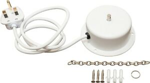 NEW 1.5 RPM WHITE MAINS OPERATED MIRROR BALL MOTOR FOR MIRROR BALLS UP TO 2KG