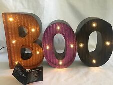 Halloween Light Up Decor Mantle Table Wall Decoration Boo Sign/Plaque