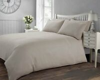 100% Luxury Hotel Quality Cotton Duvet Cover Set White Cream 300 Thread Count