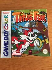 Game Boy Color Titus The Fox Boxed With Instructions Gwo Free Uk Postage