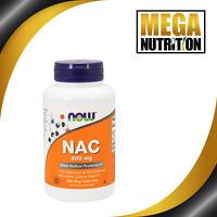 NOW Foods N-Acetyl Cysteine 600mg 100 Veg Capsules | NAC Selenium & Molybdenum