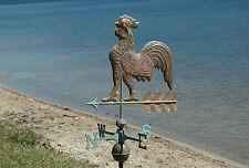 Large Full Size Real Copper Brass Rooster Weathervane weather vane
