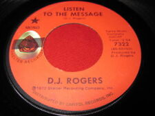 SOUL FUNK 45 - D.J. ROGERS - LISTEN TO THE MESSAGE - SHELTER 7322
