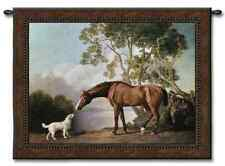 HORSE AT LAKE LANDSCAPE ART DECOR TAPESTRY WALL HANGING 52x40