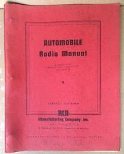 1936-1937 RCA AUTOMOBILE RADIO MANUALS BROCHURES, Camden, New Jersey