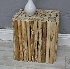 taburete Marrón Casa De Campo Mesa Auxiliar madera urbana maciza