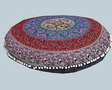 "New 32"" Round Multi Flower Mandala Floor Pillow Cover Cushion Meditation Seating"