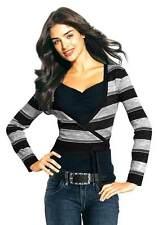 Gestreifte Damen-Pullover & -Strickware mit V-Ausschnitt ohne Verschluss