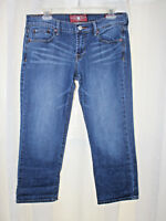 Lucky Brand Jeans Size: 6/28 Sweet & Crop blue denim Stretch Wiskers casual