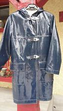 ciré 3/4 imperméable vinyle PVC vintage années 70 taille 42 lack mantel raincoat