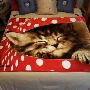 Adorable Extra-Large Kitty Cat Blanket for s Boys Gir Cat Throw Blanket Kids
