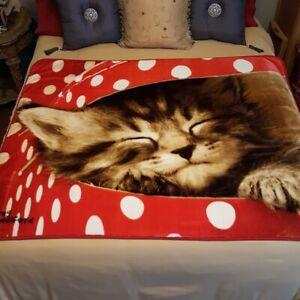 Northwest Co Cat Kitten Plush Throw Blanket Greg Cuddiford