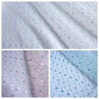 Embroidered Organza Fabric with Scalloped Edge - 3 Colours (Per Metre)