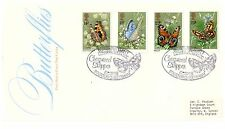 GREAT BRITAIN 1981 BUTTERFLIES SET OF 4 FIRST DAY COVER CONSERVATION SOCIETY