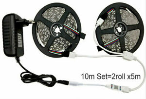 DC12V LED Strip Light RGB 5050 SMD 2835 Flexible Ribbon Stripe 5M-15M tape kit