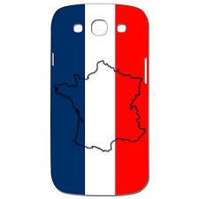 Coque 3D Téléphone - SAMSUNG GALAXY S3 - Carte de la France Bleu Blanc Rouge