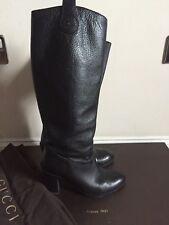 Gucci Script Knee High Boots in Black Leather  ,EU 36/Uk 3 , RRP £850