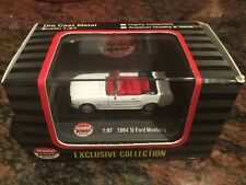 1/87 Scale 1964 And a Half Ford Mustang Convertible White Diecast