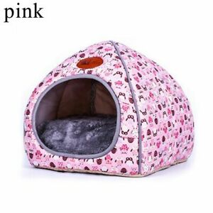 Pet House Dog Cat Tent Kennel Doggy Fashion Winter Warm Soft Cushion Basket Cave