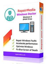 Windows 8 Doctor Data Repair Recovery ReInstallation DVD Software PC (64bit)